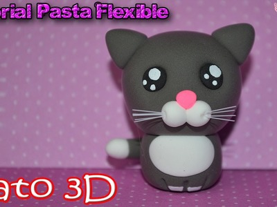 ♥ Tutorial: Gatito Kawaii en 3D de Pasta Flexible o Porcelana Fría ♥