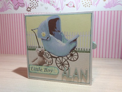 Tutorial mini album It´s a Boy - Parte 1