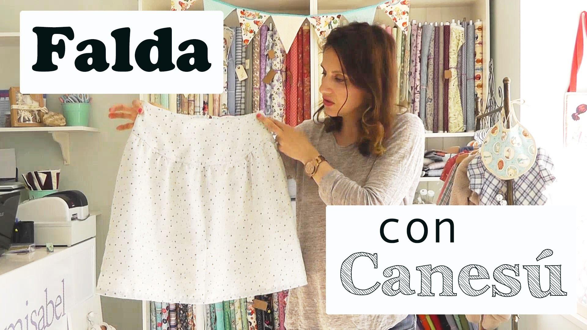 2. COMO HACER UNA FALDA CON CANESÚ Y FRUNCE (CONFECCIÓN)