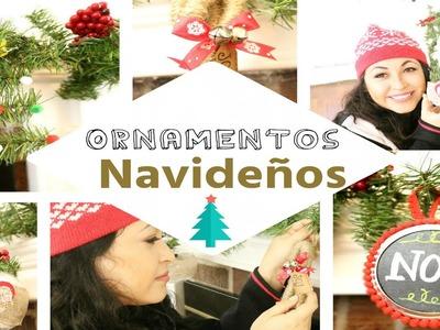 4 faciles adornos navideños. manualidades  navideñas