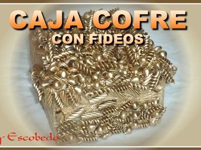 CAJA COFRE CON FIDEOS