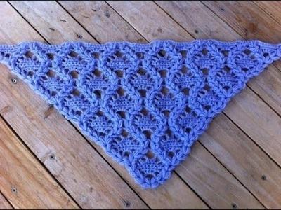 Chal tejido a crochet muy facil. Châle au crochet facile