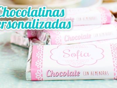 Chocolatinas personalizadas - Idea rápida | #14 Mesa dulce para Baby Shower | Quiero Cupcakes!