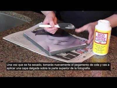 Cómo hacer un lienzo con foto