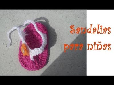 Como Hacer Sandalias para Niñas Tejidas a Ganchillo (Crochet)