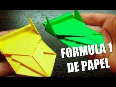 Como hacer un AUTITO de papel FORMULA 1 Super Cool | Figuras de papel (Muy fácil)