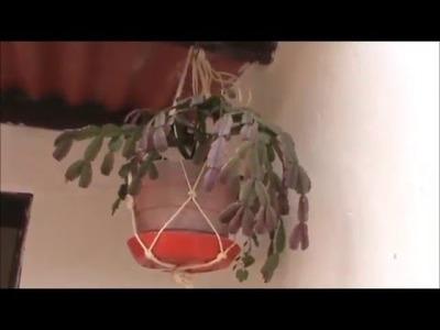 Como Hacer un Soporte Colgante para Materas