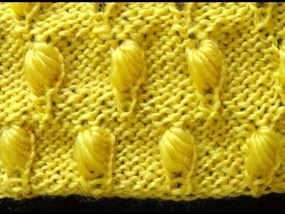 Cómo Tejer Punto Colmena Bordado-How to Knit Honeycomb Stitch  2 Agujas (352)