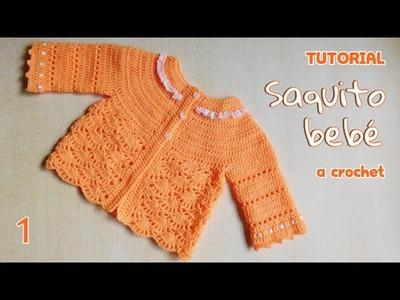 Como tejer saco y chaleco bebe a crochet (1.3)