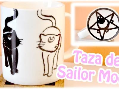 DIY - Taza de Sailor Moon [Luna y Artemis]