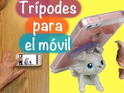 DIY Trípode para selfie y soportes para móvil o celular