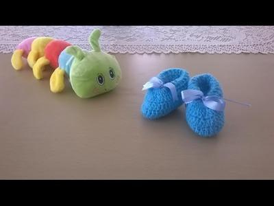 Escarpines bebé: Cómo tejer zapatos o patucos para bebé en crochet