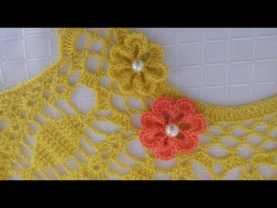 Flor de siete petalos tejida