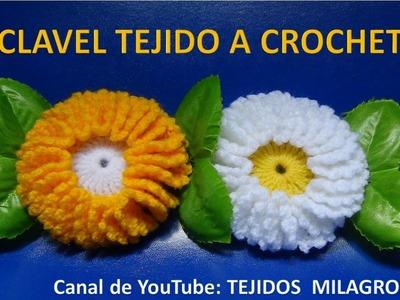 Flor tejida a crochet # 4 clavel tejido a crochet