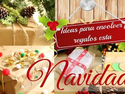 IDEAS  para envolver regalos por Navidad. Christmas gift wrapping IDEAS
