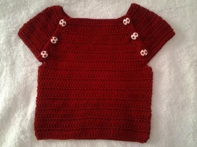 Jersey verano bebe a crochet #muy fácil #tutorial #DIY