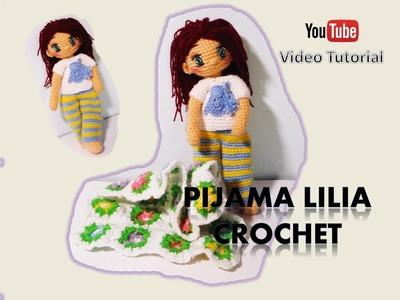 Pijama para nuestras muñecas a crochet Lilia (zurdos)