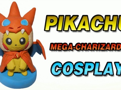 Pokemon | Pikachu Mega-Charizard Y Cosplay Clay Tutorial | Plastilina
