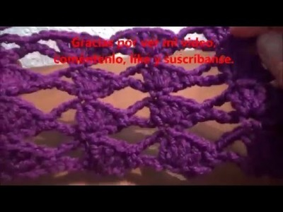 Mantas de crochet, Patrón crochet punto ladrillo: Bufanda, Patrón ...