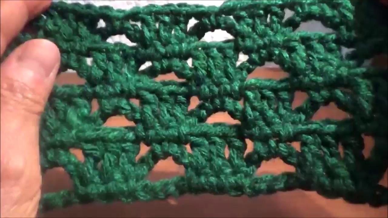 Puntada a crochet, sencilla, fácil, linda y rápida. .