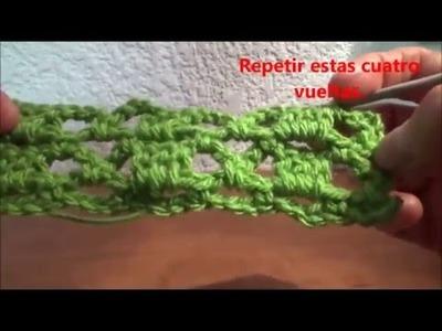 Puntada fàcil a crochet. Muestra No. 6
