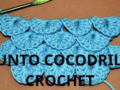 Punto Cocodrilo o Escama en tejido crochet tutorial paso a paso.