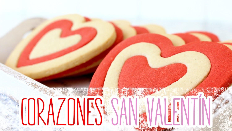 Receta: Galletas de almendra en forma de corazón -- San Valentín