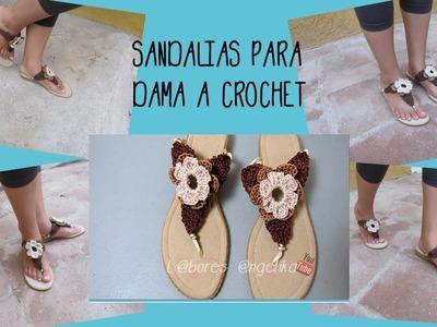 SANDALIAS PARA DAMA A CROCHET