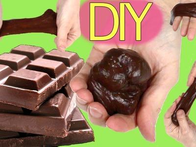 Slime de chocolate y fluido no newtoniano. Moco o Flubber de chocolate