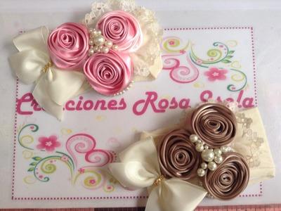 Tiara de rosas con perlas Creaciones Rosa Isela   VIDEO No. 233