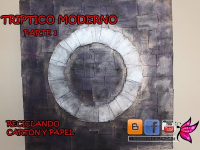 TRIPTICO CON CAJA DE PIZZA PARTE 1 - Triptych with pizza box