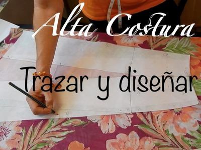 Alta Costura Clase 47B, Falda Vuelo Natural Trasero y final