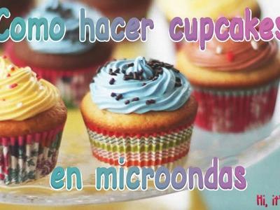 Como hacer cupcakes en microondas | Hi, it's Carmen