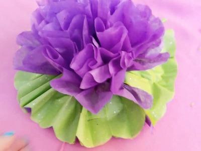 Cómo hacer flores de  papel crepe