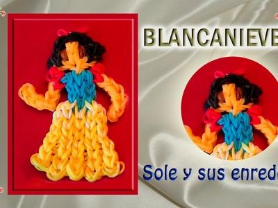 Cómo hacer la Princesa Blancanieves con gomitas elásticas (serie Princesas)