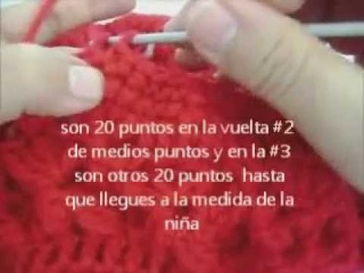 COMO HACER UN GORRO PARA  BEBE O NIÑOS PARTE 2