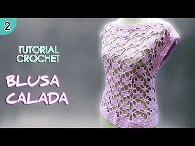 Como tejer una blusa o remera a crochet para mujer (2.2)