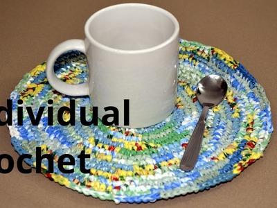 Individual Desayuno en tejido crochet tutorial paso a paso.