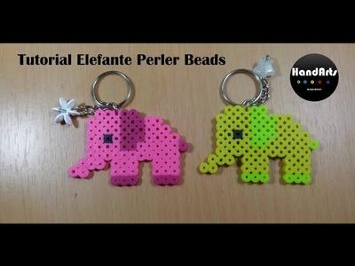 Llavero de Elefante | Elephant keychain | Perler Beads| Angel Martinez