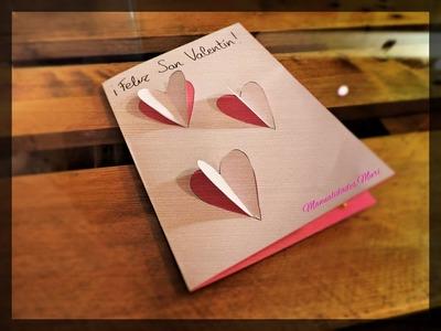Manualidades para San Valentin, Tarjeta de Corazones!