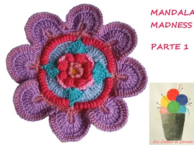Patrón crochet Mandala Madness paso a paso en español