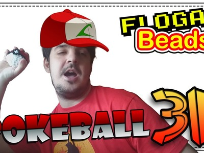POKEBALL 3D - DIY - Tutorial Hama Beads para Gamers - FloGar o.O