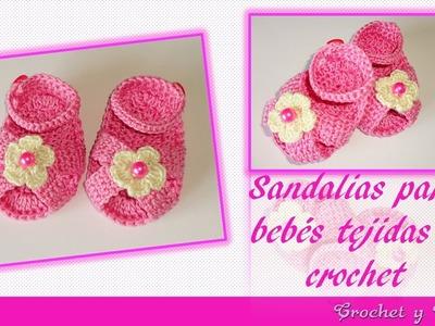 Sandalias para bebés tejidas a crochet (ganchillo) – Parte 1