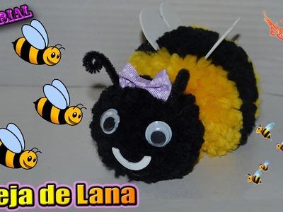 ♥ Tutorial: Abeja en 3D de Lana (FÁCIL) ♥
