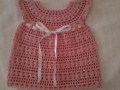 Vestido bebita a crochet parte 2 #tutorial #DIY