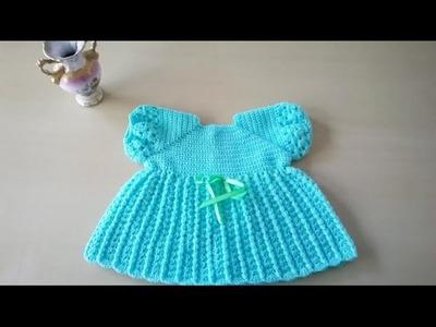 Vestido para bebé con manga farolito