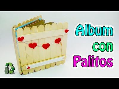 203. Manualidades para regalar: Album con palitos de helado (Reciclaje) Ecobrisa