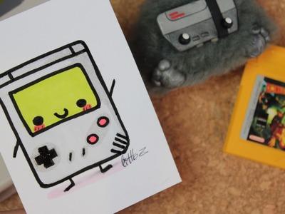 Cómo dibujar una Game boy de los clásica - Crecí en los 80 #4