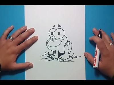 Como dibujar una rana paso a paso 5 | How to draw a frog 5