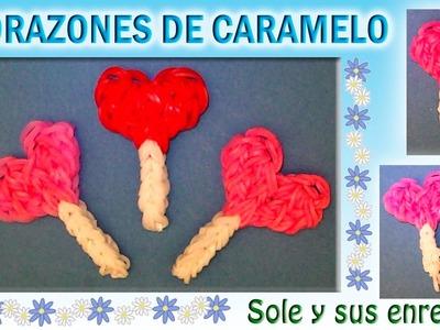 Cómo hacer corazones de caramelo con gomitas elásticas